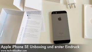 Apple iPhone SE Unboxing und erster Eindruck