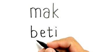 [2.67 MB] WOW, cara menggambar kata MAK BETI menjadi gambar MAK BETI dan BETI