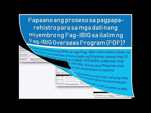 Mga Tanong At Sagot Tungkol Sa Republic Act 9679 Home Development Mutual Fund Law