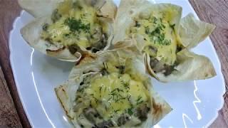 Закуска, которая подойдет к любому застолью: Жюльен с курицей и грибами
