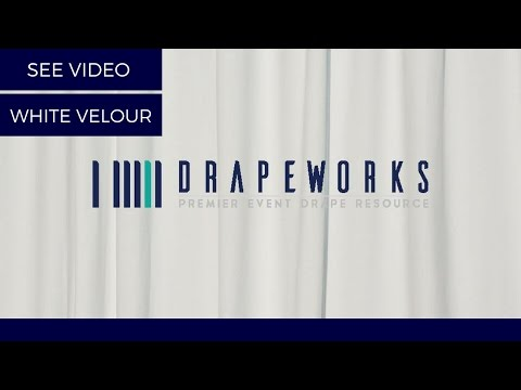 Pipe and Drape White Eco Velour, 14 oz IFR ( Video )