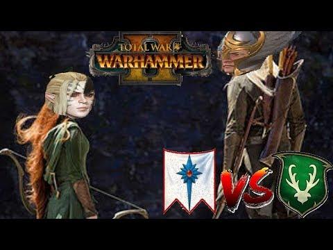 High Elves vs Wood Elves | ELF BOWL - Total War Warhammer 2