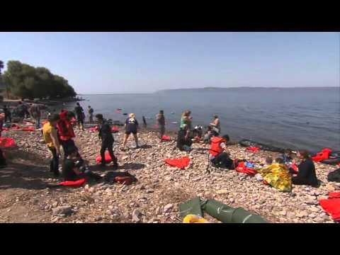 Hotspot in Lesbos, Greece