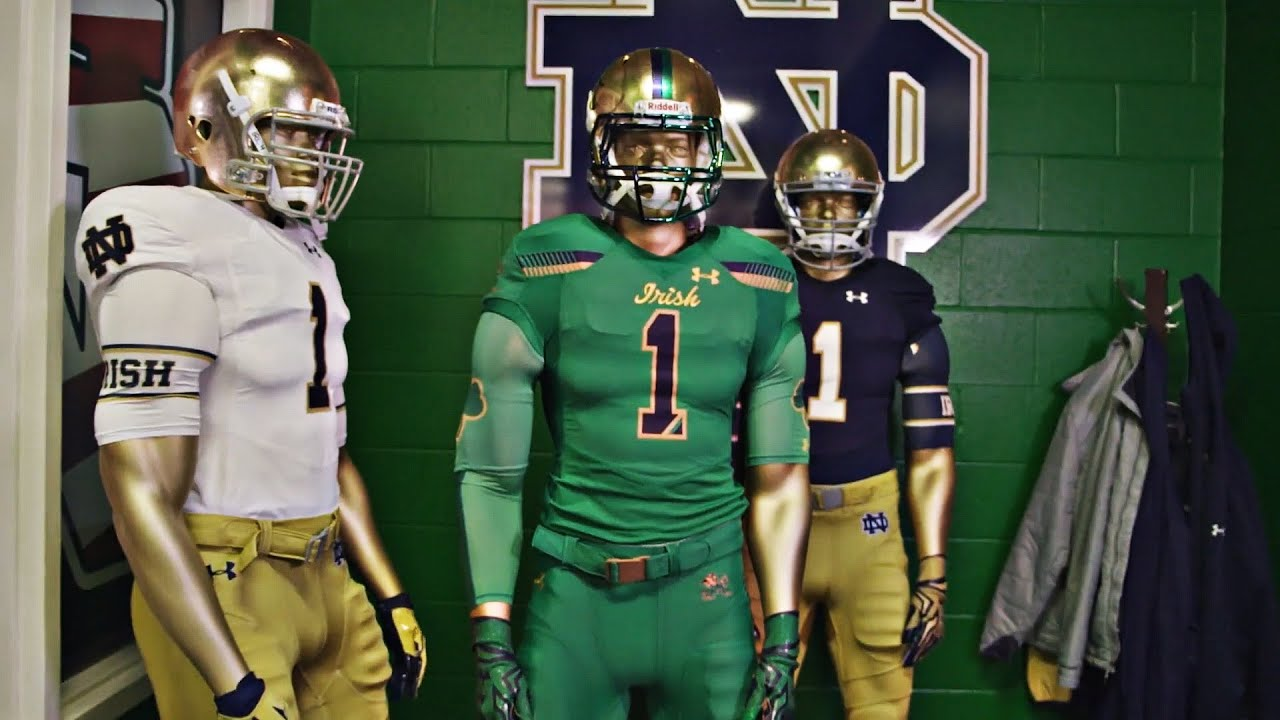 the best attitude a8b64 a49d9 Notre Dame's 2015 Shamrock Series Jerseys | A SEASON WITH NOTRE DAME  FOOTBALL