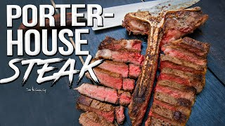 Perfectly Cooked Porterhouse Steak   SAM THE COOKING GUY 4K