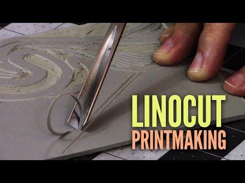 Linoleum Printmaking Experiments (Linocut)