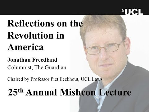 2016 UCL Mishcon Lecture - Jonathan Freedland