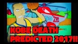 Kobe Bryant death by helicopter predicted in 2017 episode Simpsons!!
