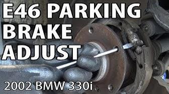 BMW E46 Parking Brake Adjustment