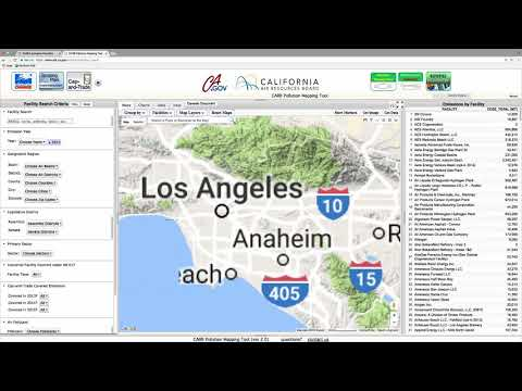 CARB Air Pollution Mapping Tool demo