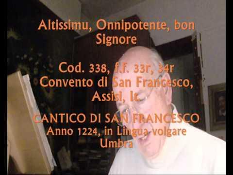 Altissimu, Onnipotente, bon Signore, Lettura di Giovanni Vianini, Milano
