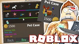 UNBOXING ALL THE NEW PETS IN THE PET CASE!! (Roblox Assassin)