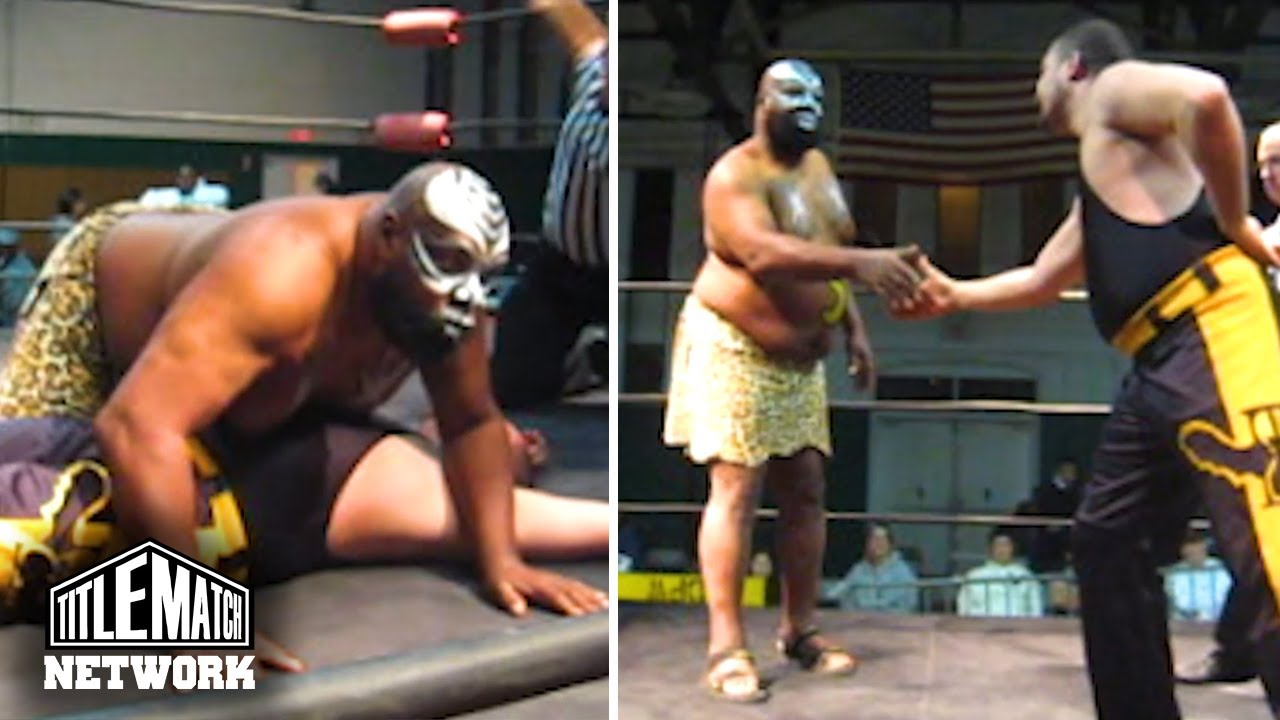 "Kamala ""The Ugandan Giant"" vs Eddie Kingston - Pro Wrestling Syndicate (WWF, AEW, Mid South)"