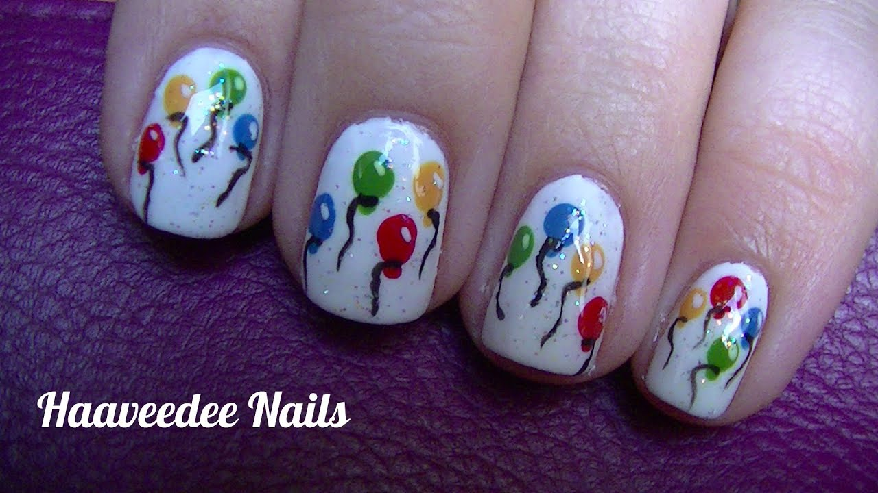 Birthday nails youtube prinsesfo Choice Image