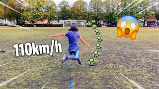 IL TIRE A PLUS DE 110 KMH INCROYABLE ! FOOTBALL CHALLENGE CRISTIANO RONALDO