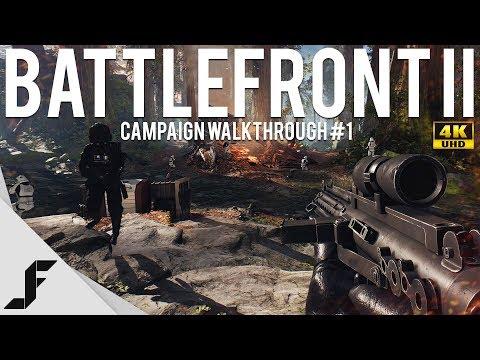 STAR WARS BATTLEFRONT 2 CAMPAIGN WALKTHROUGH - Part 1 4K 60FPS