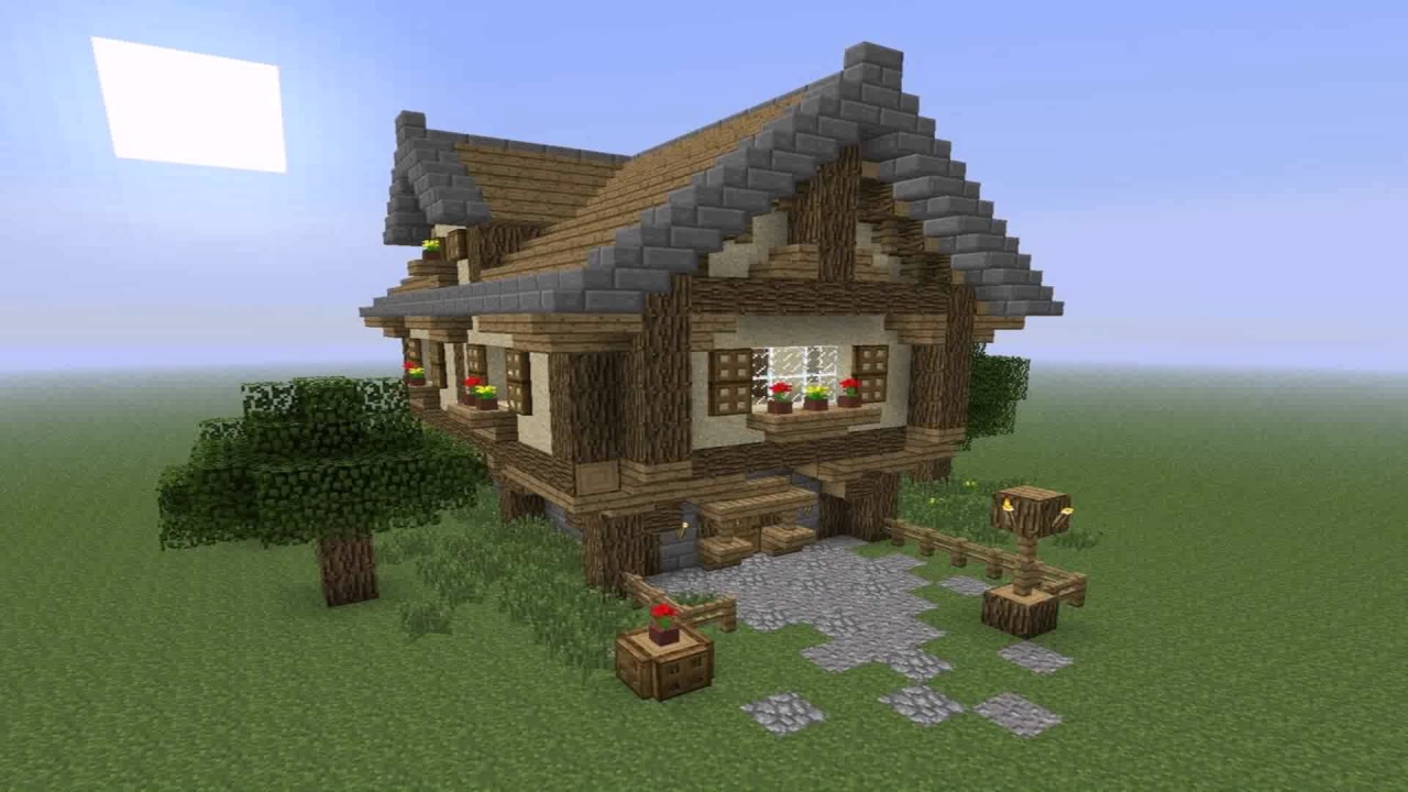 Simple House Design For Minecraft - YouTube