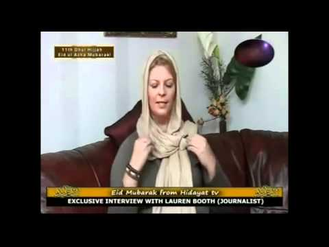 Prime minister Tony Blair sister in law - Lauren Booth's convert to islam new interview - April 2012