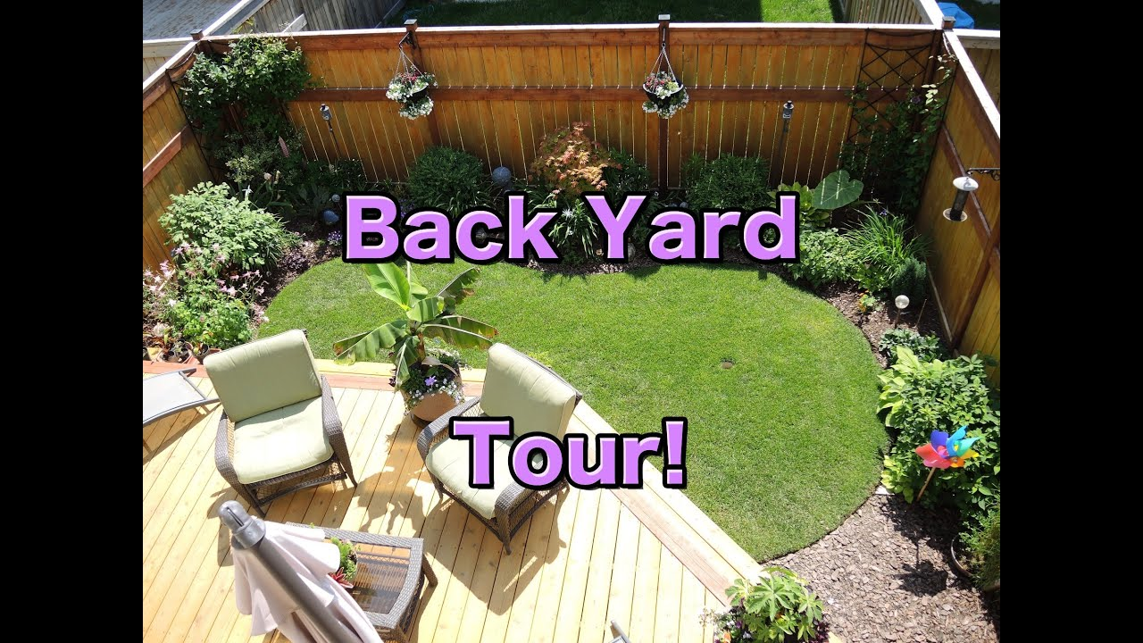 back yard tour june 2014 youtube