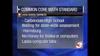 WSIL TV (Carterville) Lt. Gov. Simon talks Comon Core Math