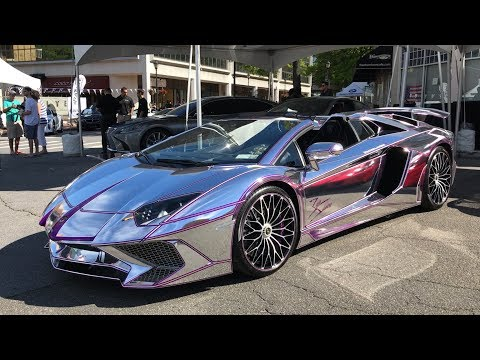 Chrome & Purple Lamborghini Aventador SV !