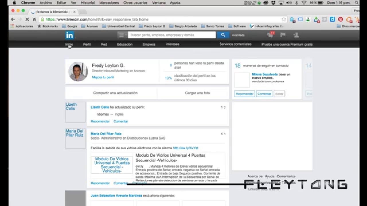 Cómo guardar perfil de LinkedIn en formato pdf? - YouTube