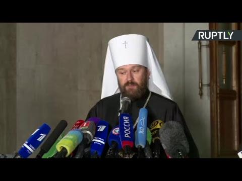 Пресс-подход по итогам заседания Синода РПЦ о ситуации в православной церкви — LIVE