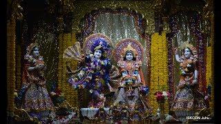 Mangal Arati Darshan Sri Sri Radha Rasbihari Temple 15th Jan 2019 Live from ISKCON Juhu, Mumbai