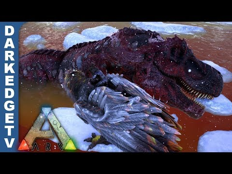 [S1E18] Dilo Army vs. Alpha Rex - ARK: Survival Evolved