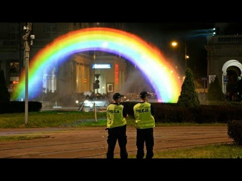 'Unbreakable' LGBT rainbow installation unveiled in Warsaw after far-Right attacks