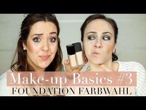 Wie finde ich die richtige Foundation Farbe I Hautunterton I Make-up Basics #3