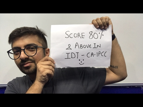 How to score 80 percent in CA IPCC IDT. Live session