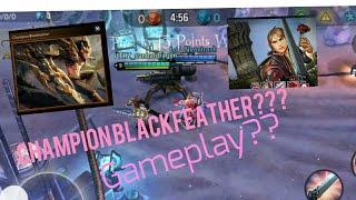 Vainglory. Blackfeather champion skin gameplay