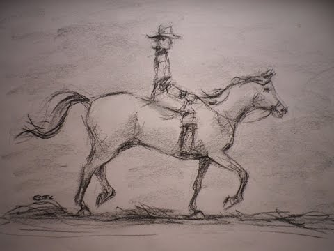 How to draw a horse and rider youtube how to draw a horse and rider ccuart Gallery