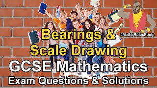 Bearings and Scale Drawing - GCSE Maths Exam Questions