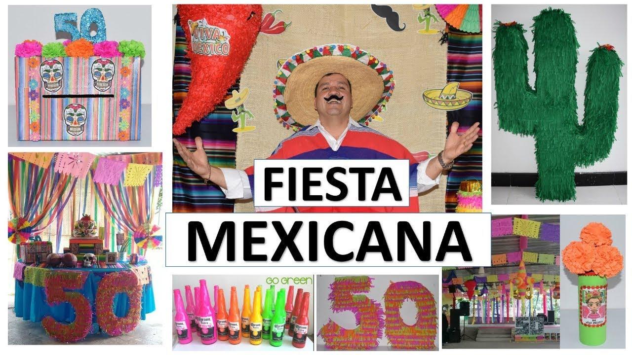 11 Manualidades Fáciles Para Decorar Una Fiesta Mexicana Con