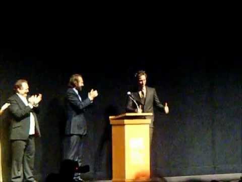 Gerard Butler on stage for Coriolanus Special Presentation