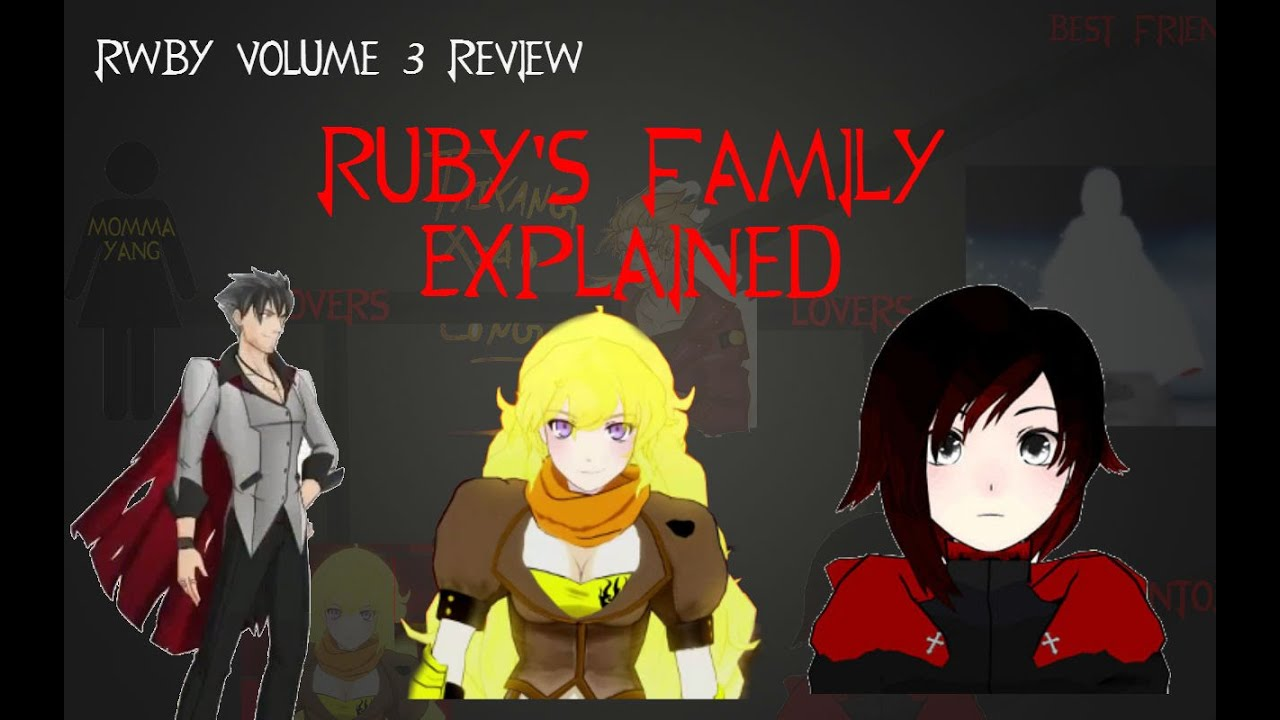 rwby vol 3 review rubys family explained youtube