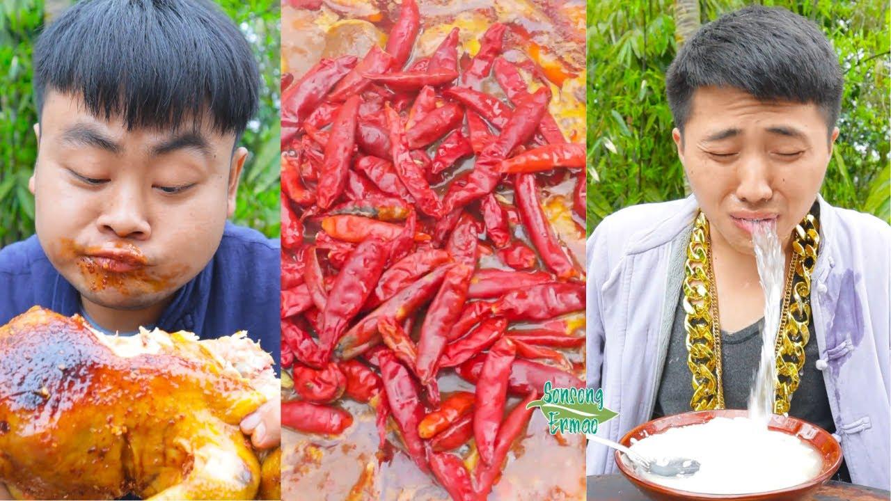 Food Pranks between Songsong and Ermao! || Funny Mukbang || Songsong and Ermao