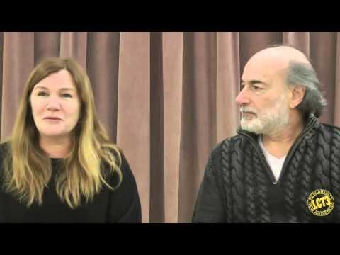 An  with HER REQUIEM cast members Peter Friedman and Mare Winningham