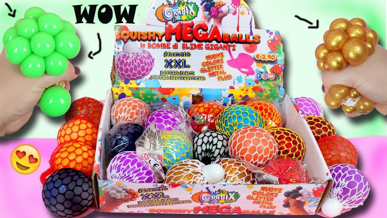 Squishy Slime Balls In Net Bag : Apriamo Le SQUISHY MEGA BALLS! Due Volte Piu  Grandi e DOPPIO SLIME! - YouTube