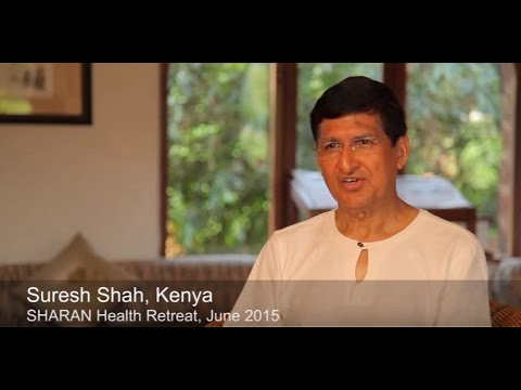 Suresh Shah from Nairobi at the end of SHARAN's 21-day Health Retreat, June 2015