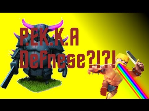 Clash Of Clans Clan Castle Defending Series - PEKKA!??!?!