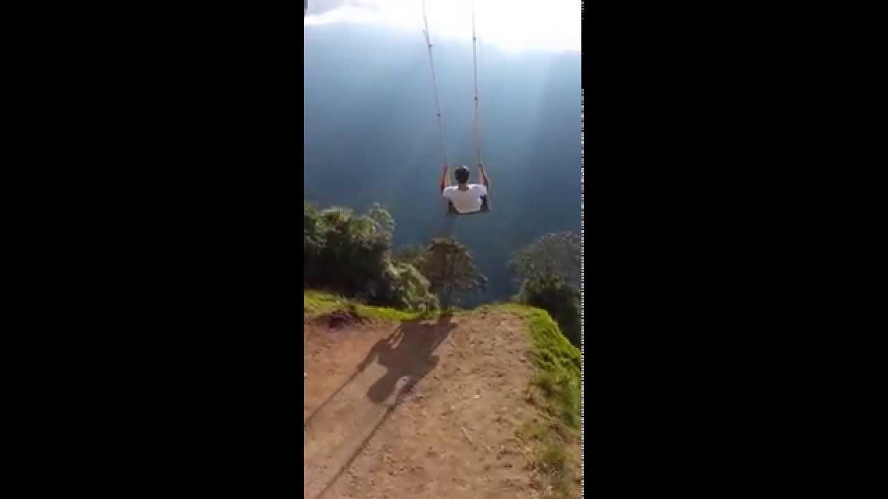 Tree Swing on Side of Tungurahua Volcano