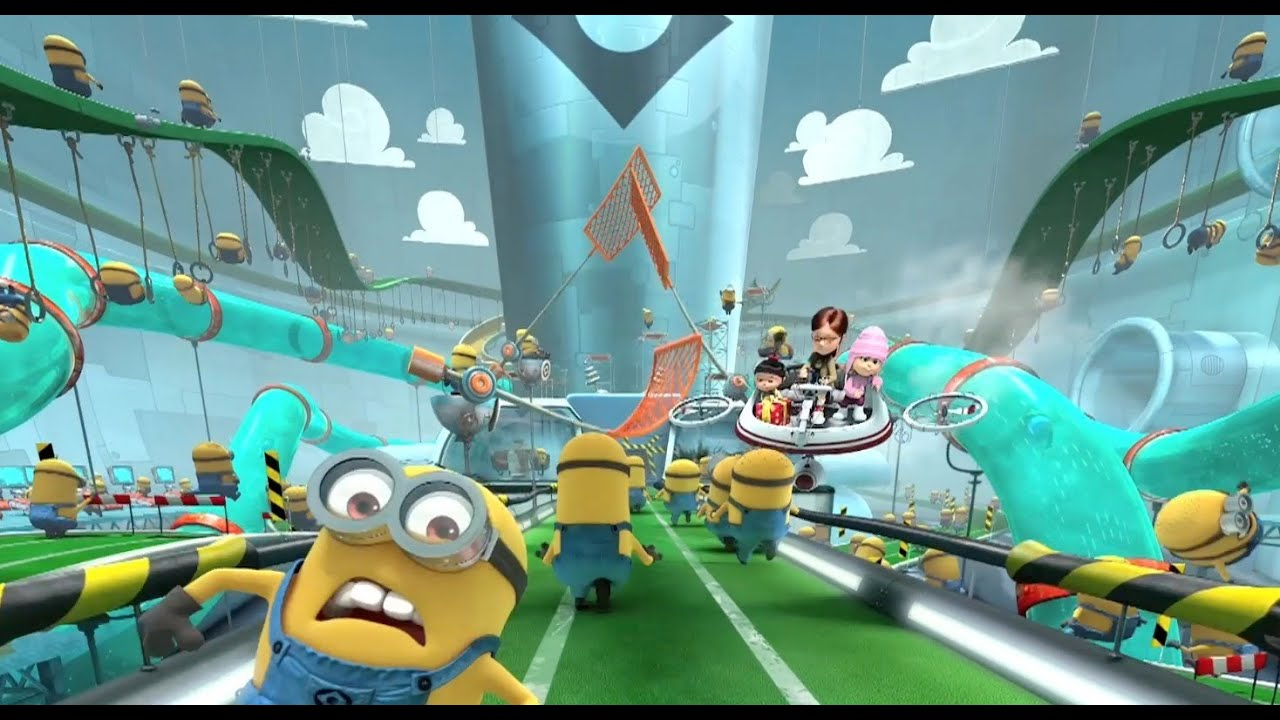 On-ride preview of Despicable Me Minion Mayhem at Universal Studios Florida