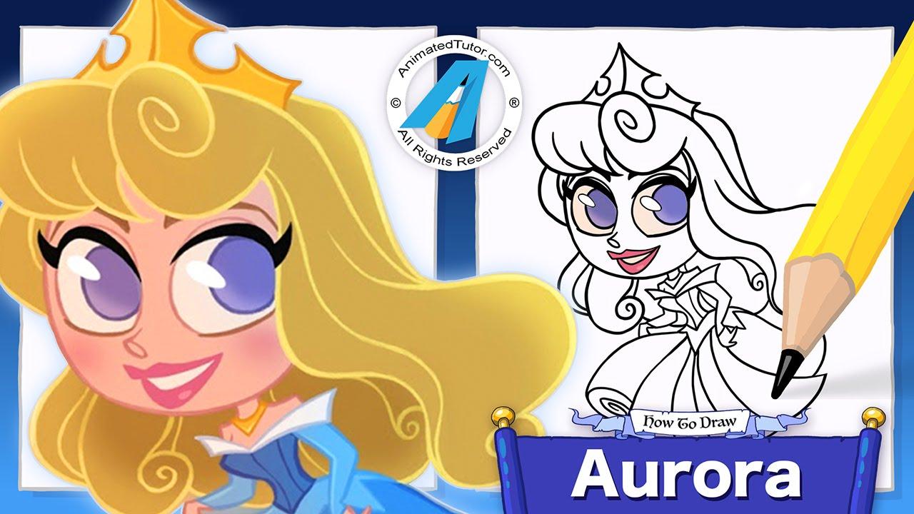 Draw Cute Princess Aurora - Sleeping Beauty - Chibi ...