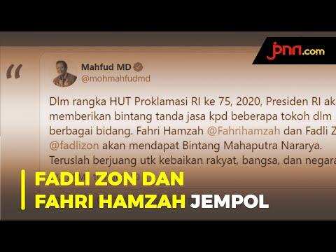 Jokowi Beri Bintang Jasa Untuk Fahri Hamzah dan Fadli Zon