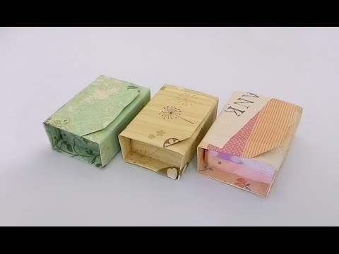 Origami box with lid/ พับกระดาษ :พับกล่องของขวัญมีฝาปิด