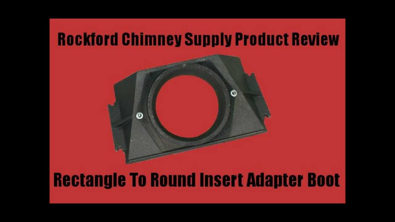 Wood Stove Chimney Adapter Boot Rectangle To Round By Rockford Chimney Supply Youtube