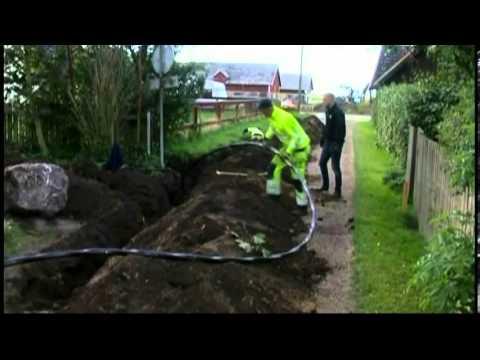 EON gräver ner kabel, Okt 2013